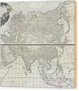 1784 D Anville Wall Map Of Asia Wood Print