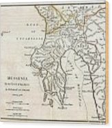 1786 Bocage Map Of Messenia In Ancient Greece Wood Print