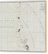 1786 La Perouse Map Of San Francisco Monterey Bay California And Oregon Wood Print