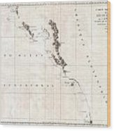 1786 La Perouse Map Of Vancouver And British Columbia Canada Wood Print