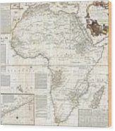 1787 Boulton  Sayer Wall Map Of Africa Wood Print