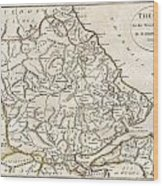 1788 Bocage Map Of Thessaly In Ancient Greece Wood Print