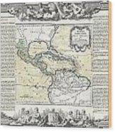 1788 Brion De La Tour Map Of Mexico Central America And The West Indies Wood Print