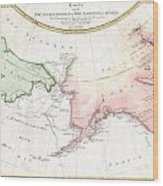 1788 Schraembl Map Of The Northwest Passage Wood Print