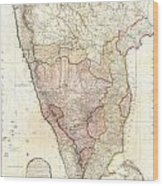 1793 Faden Wall Map Of India Wood Print