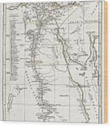 1794 Anville Map Of Ancient Egypt  Wood Print