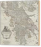 1794 Anville Map Of Ancient Greece  Wood Print