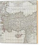 1794 Anville Map Of Asia Minor In Antiquity Wood Print