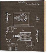 1794 Eli Whitney Cotton Gin Patent 2 Espresso Wood Print