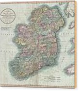 1799 Cary Map Of Ireland  Wood Print