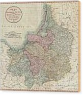 1799 Cary Map Of Prussia And Lithuania  Wood Print