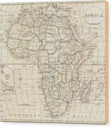 1799 Clement Cruttwell Map Of Africa  Wood Print