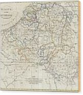 1799 Clement Cruttwell Map Of Belgium Or The Netherlands Wood Print