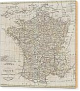 1799 Clement Cruttwell Map Of France In Departments Wood Print