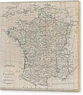 1799 Clement Cruttwell Map Of France In Provinces Wood Print