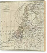 1799 Clement Cruttwell Map Of Holland Or The Netherlands Wood Print
