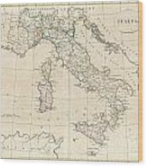 1799 Clement Cruttwell Map Of Italy Wood Print