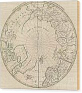 1799 Clement Cruttwell Map Of North Pole Wood Print