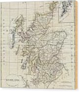 1799 Clement Cruttwell Map Of Scotland Wood Print