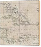 1799 Clement Cruttwell Map Of West Indies Wood Print