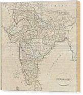 1799 Clement Crutwell Map Of Hindoostan Wood Print