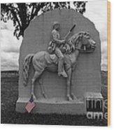 17th Pennsylvania Cavalry Monument Gettysburg Wood Print