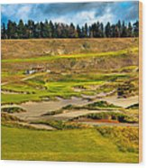#18 At Chambers Bay Golf Course - Location Of The 2015 U.s. Open Tournament Wood Print