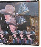21 Duke's John Wayne Cardboard Cutout Collage Tombstone  Arizona 2004-2009 Wood Print