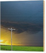 Excellent Severe T-boomers South Central Nebraska Wood Print