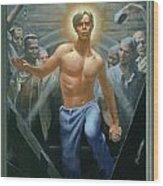 18. Jesus Rises / From The Passion Of Christ - A Gay Vision Wood Print by Douglas Blanchard