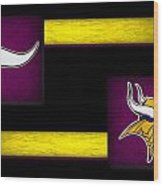 Minnesota Vikings Wood Print by Joe Hamilton