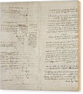 Notes By Leonardo Da Vinci, Codex Arundel Wood Print