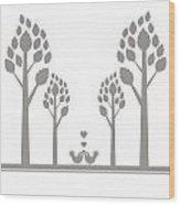Valentine Tree Wood Print