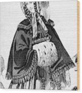 Women's Fashion, 1842 Wood Print