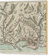 1800 Bardi Map Of Genoa Genova Italy  Wood Print