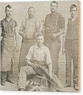 1800's Vintage Photo Of Blacksmiths Wood Print