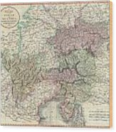 1801 Cary Map Of Austria Wood Print