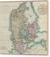 1801 Cary Map Of Denmark Wood Print