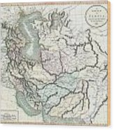 1801 Cary Map Of Persia  Iran Iraq Afghanistan Wood Print