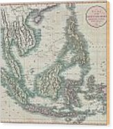 1801 Cary Map Of The East Indies And Southeast Asia  Singapore Borneo Sumatra Java Philippines Wood Print