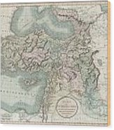 1801 Cary Map Of Turkey Iraq Armenia And Sryia Wood Print