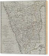 1804 German Edition Of The Rennel Map Of India Wood Print