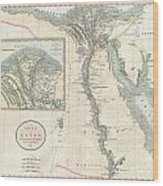 1805 Cary Map Of Egypt Wood Print