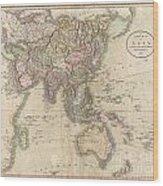 1806 Cary Map Of Asia Polynesia And Australia Wood Print