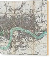 1806 Mogg Pocket Or Case Map Of London Wood Print