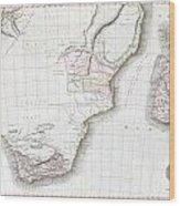 1809 Pinkerton Map Of Southern Africa Wood Print