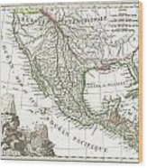 1810 Tardieu Map Of Mexico Texas And California Wood Print