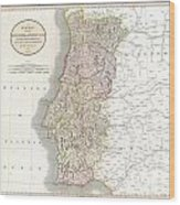 1811 Cary Map Of The Kingdom Of Portugal Wood Print