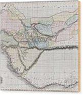 1813 Pinkerton Map Of Western Africa Wood Print