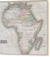 1813 Thomson Map Of Africa Wood Print